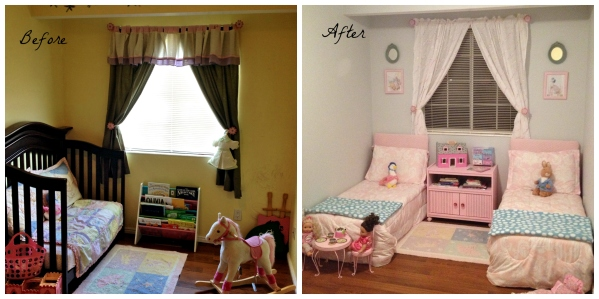 Before and After Little Girls Room